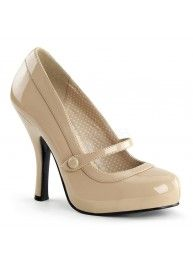 Rockabilly & Pin Up Schuhe/Pumps Lack in Creme