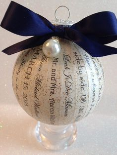 Personalized Wedding Ornament, Christmas Ornament, First Christmas ...
