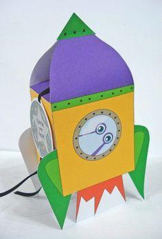Caja Cohete para souvenir de cumpleaños