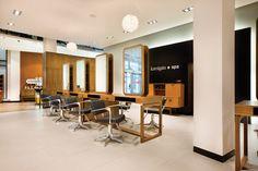 Kamigata Lifestyle salon & spa by Reis Design, Cardiff UK store design Schönheitssalon Design, Store Design, Uk Hairdressers, Spa Interior Design, Beauty Salon Design, Beauty Salons, Hair Salon Interior, Retail Design, Modern