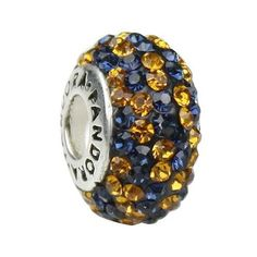 blue/gold pandora charm I need this one for WVU.