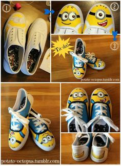 From Lovers with Love » Be Your Own Favorite Shoe Designer - DIY Collection - Despicable Me Sneakers