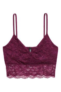 Soft bustier in lace with V-neck at front and narrow shoulder straps in jersey. Partly lined. Bustiers, Lace Bustier, Camisole Top, Just Girl Things, Cute Shirts, My Wardrobe, My Outfit, Cute Outfits, Lingerie