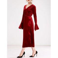 Plus Size Velvet Wrap Dress Plus Size Fashion Pinterest