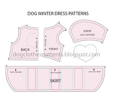Mimi & Tara | Free Dog Clothes Patterns: Dog winter dress patterns