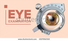 Eye Test Banner Vector. Correction Device. Optometrist Check. Test Illustration