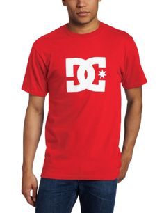DC Men's Star Short Sleeve Tee, Athletic Red, « Clothing Impulse