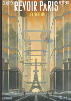 En même temps qu'il réalisait BD, Schuiten était le maître d'œuvre d'une expo à la cité de l'Architecture sur les utopies de Paris.  Son catalogue reprend l'ensemble du matériel exposé, y compris les dessins réalisés par Schuiten.
