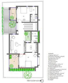 Indian House Plans, My House Plans, Bungalow House Plans, Small House Plans, House Floor Plans, Small Contemporary House Plans, West Facing House, Duplex Floor Plans, Villa Plan