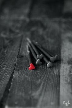 Heart shaped nails.
