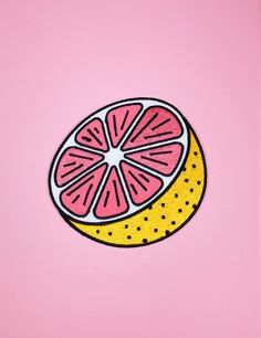 Just plain or with a spoonful of sugar on top a grapefruit is the perfect way to start off any day!! This tasty patch is perfect to jazz up a old pair of jeans