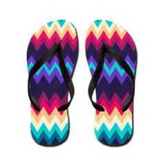Surf Chevron Flip Flops #nika #nikamartinez #surf #girl #bold #chevron #surfer #summer #rad #funky #beach #beachy #girly #cool #flipflops #sandals #boho #tribal #coolsandals #cute #pattern #zigzag #red #purple #blue #creme #acqua #pink