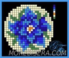 Esquema para broches bordados con flores - Flores - Arreglos perlas de tejer - artículos del Tesoro - perlas Tejiendo joyería, árboles y flores, el circuito u