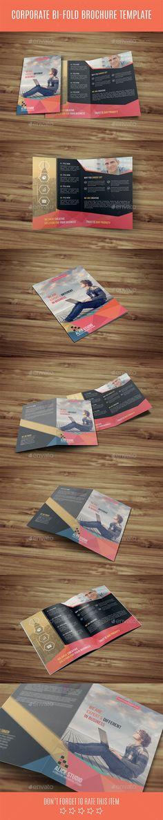 Corporate Bi-Fold Brochure #design Download: http://graphicriver.net/item/corporate-bifold-brochure-template/12313116?ref=ksioks