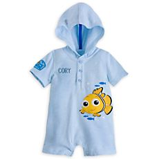 Nemo Hooded Romper for Baby - Personalizable