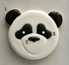 Panda Face Cookie How-to: