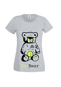 Hand painted shirt with really abd tempered bear : Etsy- Tooba Posters, Facebook- Tooba Posters : check out our pages :) #shirt #cloth #clothing #girl #woman #handmade #t-shirt #black #white #cool #nice Paint Shirts, Shirt Designs, Black White, Hand Painted, Posters, Bear, Facebook, Woman, Cool Stuff