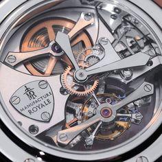 Manufacture Royale Androgyne Tourbillon dial