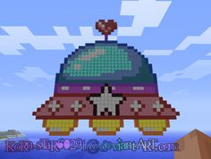Kawaii UFO - Minecraft Pixel Art by KoRn-sTaR60291