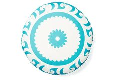 Amer Round Outdoor Pillow, Aqua on OneKingsLane.com