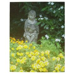 Girl Garden Statue Reading Photo Puzzle