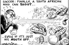 Zapiro: Mbalula on Bafana Bafana - When is he going to address the fouls the ANC has been making?