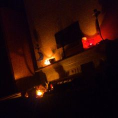 Night time altar at home