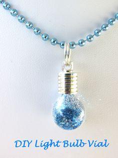 10 DIY Kit Light Bulb Glass Globes Flask Vials Pendants Necklace 23mm Rice Jewelry Mini MIniature Bottles Kawaii by theglassconnection on Etsy