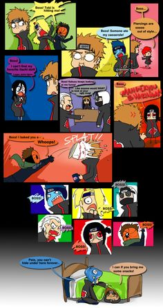 Poor Pein has ta deal with akatsuki all the time