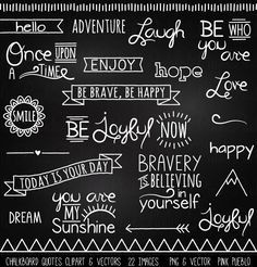 Print Candee - Chalkboard Quotes Clipart and Vectors, $6.00 (http://www.printcandee.com/chalkboard-quotes-clipart-and-vectors/)