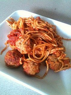 Crockpot spaghetti - no boiling water or cooking meat required.  :)