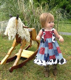 I Wanna Be a Cowgirl Knot Dress Sizes Available by rosieposiegifts, $42.00
