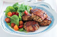 Bacon and herb chicken rissoles - these were yum