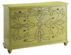 Avocado Nail Head Chest, dresser chest