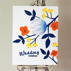Wedding Greetings, Concord And 9th, Paint Cards, Concorde, Flower Cards, Hand Stamped Cards, Wedding Cards, Greeting Cards, Card Making Inspiration