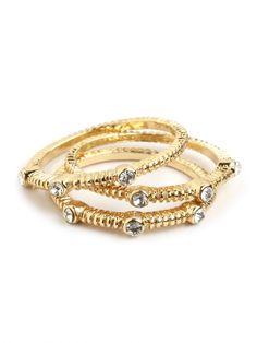 Gold Ridge Ring Trio