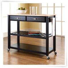 Crosley Kitchen Cart With Optional Stool Storage
