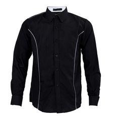 New Fashion Mens Luxury Long Sleeve Casual Slim Fit Stylish Dress Shirts