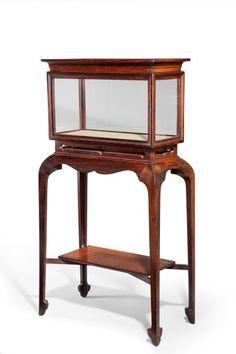 Antique Chinese hardwood display cabinet