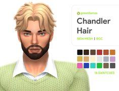 The Sims 4 Pc, Sims 4 Mm Cc, Sims 4 Cas, Sims 4 Hair Male, Sims Hair, Male Hair, Mods Sims, Sims 4 Mods Clothes, Middle Part Hairstyles