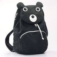 81e7a4e635 White Dot Cute Cartoon Panda Canvas Korean Style Sports Backpacks Cartoon  Panda