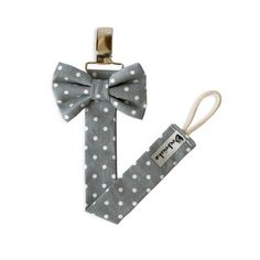Bow tie pacifier clip More: