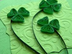 Quilling by Anca Milchis: Every spring with it`s clovers