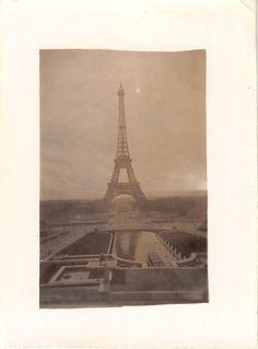 Black and White Vintage Snapshot Photograph Eiffel Tower Paris France 1930'S | eBay