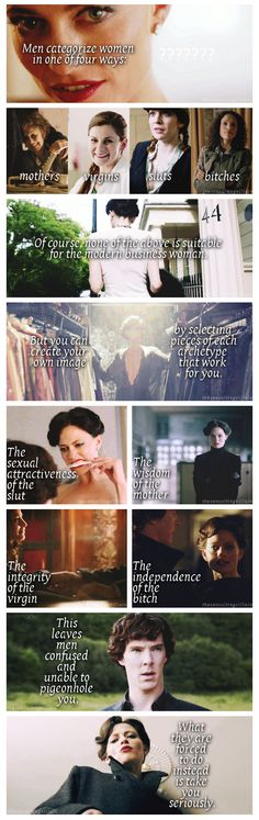 Irene Adler: The modern businesswoman    good lord, I have never heard these words, but they stir something deep in my soul.