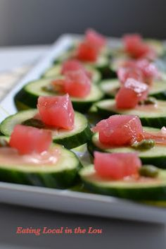 Cool as a Cucumber, Hot as Wasabi Tuna Appetizer