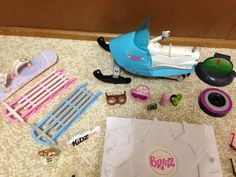 Bratz Kidz Doll Accessory Lot Snowmobile Dog Pet Bathtub Sled Sunglasses