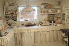 Cream-Colored Craft Room