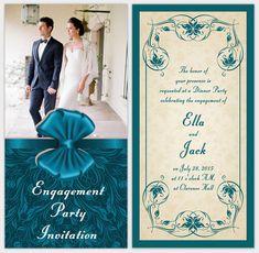 Elegant Engagement Party Ideas Card