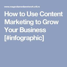 How to Use Content Marketing to Grow Your Business [#infographic]